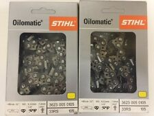 "2pk-- 32"" STIHL Chainsaw Chain 33 RS 105 Rapid Super  3623 005 0105 3/8 .50ga"
