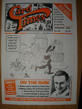 CARD TIMES MAGAZINE FORMERLY CIGARETTE CARD MONTHLY No 64 FEBRUARY 1995