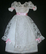 Sindy Doll CLOTHES: White lace long dress, wedding gown