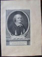 PIERRE D'HOZIER..... A Paris , Desrochers. Portrait. Gravure originale 18 ème. D