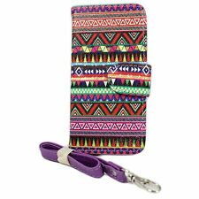 NEW ELEGANI Tribal Vegan PU Leather iPhone 5/5S/SE Wallet Magnetic Closure Case