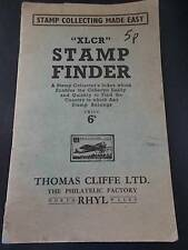 Vtg 1944 Book XLCR Stamp Finder Collectors Index to find Country Collecting Rhyl