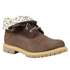 TIMBERLAND 15 Q1 WOMEN Earthkeepers Authentics Roll-Top Rugged Shoes 8100B Brown