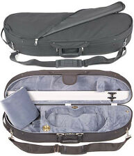 Bobelock 1047 Half Moon 1/2 Violin Case with Gray Velour Interior - AUTHORIZED!