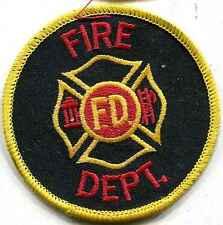 Feuerwehr USA:Armabzeichen:Fire Dept..75 mm,rund. 4 Stück