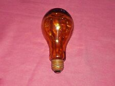 EUC NICE Vintage Amber Glass LIGHT BULB SECRET HIDDEN SAFE CAN STASH COMPARTMENT