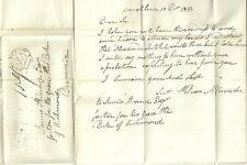 * 1842  WILLIAM McCONNACHIE LETTER TO SKINNER AT DRUMMIN MORTLACH UNIQUE MILEAGE