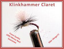 TROUT FLIES - KLINKHAMER CLARET PARACHUTE 1 DOZ. Size 14 hooks