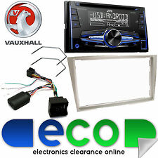 Vauxhall Astra H JVC Double Din CD MP3 USB AUX Car Stereo Light Silver Facia Kit