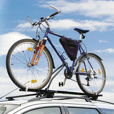 1x Car Travel Roof Bar Mounted Bicycle Carrier Upright Bike Rack Cycle Locking