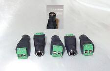 5x DC Buchse 5.5*2.1 Schraubklemmen Terminalblock Anschluss LED Strip Netzteil