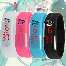 New Fashion Anime Hatsune Miku Sport Bracelet Watch LED Wrist Band Waterproof