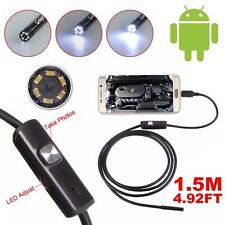 1.5M 5.5mm Android Endoscope Waterproof Borescope Inspection Camera 6 LED Cam MT