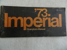 1973 Chrysler Imperial  Owners Manual