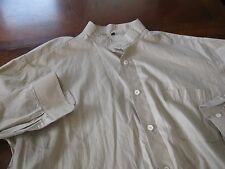 Davinci Sz XL Tan Button Down Long Sleeve Shirt Men's Made In Switzerland