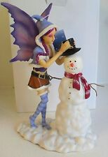 Natasha Faulkner Christmas fairy & snowman FUN IN THE SNOW figure new with box