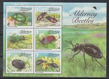 GB - ALDERNEY 2013 Beetles Mini-Sheet SG MSA487 MNH FAUNA INSECTS FLOWERS