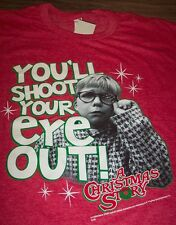 A CHRISTMAS STORY YOU'LL SHOOT YOUR EYE OUT T-Shirt XL NEW  RALPHIE