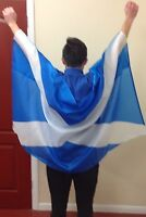 WEARABLE SCOTLAND SCOTTISH FLAG 5X3 Football Rugby Fan Supporters