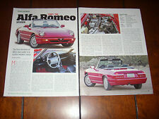 1991 1992 1993 1994 ALFA ROMEO SPIDER - ORIGINAL ARTICLE