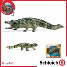 Schleich World of Nature Wild Life Alligator and Hatchling 2 Figure Set