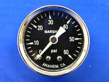 "Marshall Gauge 0-60 psi Fuel Pressure Oil Pressure Gauge Black 1.5"" Diameter"