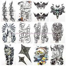 "US SELLER- 10 sheets large 8.25"" temporary arm tattoo wholesale MEN armour Day"