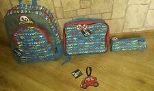 4 in 1 Boys Backpack. Lunch bag+pensil case+ luggage tag. School/holidays