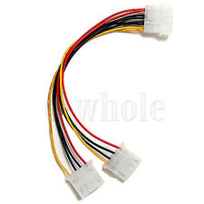 4 Pin Molex Y Splitter to 2 Molex 4 Pin Power Supply Cable For Computer HM