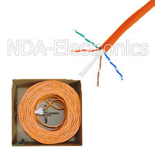 1000FT CAT6 UTP SOLID LAN NETWORK ETHERNET CABLE BULK WIRE 23 AWG 550MHz Orange