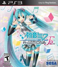 Hatsune Miku: Project DIVA F 2nd (Playstation 3 PS3, NTSC, Video Game) Brand New