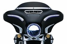 "Kuryakyn 7"" Chrome LED Halo Lights Headlight Bezel Trim Ring Harley Batwing 2017"