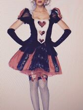 Womens Sexy QUEEN of HEARTS ALICE in WONDERLAND Fancy Dress Costume Outfit