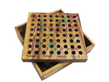 SNAKES & LADDERS, Classic Strategy Wooden Game, Board Game, Brain Teaser