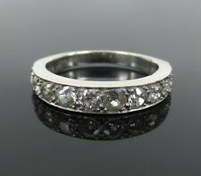 Antique 1.20ct Old Mine Cut Diamond & Platinum Ring Size 6
