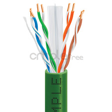 CAT6 CABLE 1000FT UTP SOLID NETWORK ETHERNET BULK WIRE 550MHz RJ45 LAN Green NEW