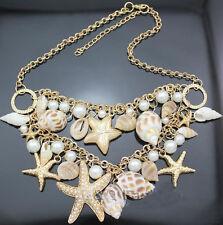 Moderno Joyería Colgante Cristal Grueso Perlas Bib Cadena Collar De Tendencia