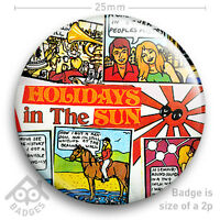 "The Sex Pistols HOLIDAYS IN THE SUN Record Cover JAMIE REID -NEW - 25mm 1"" Badge"