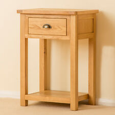Roseland Oak Small Hall Table / Solid Oak Telephone Table / Wood Console Table