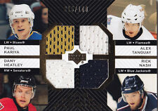 2007-08 UPPER DECK KARIYA HEATLEY TANGUAY NASH /100 JERSEY FAB FOUR FABRICS