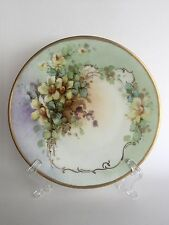 Antique Favorite Bavarian Hand Painted Floral Signed Decorative Cabinet Plate
