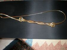 Accessocraft NYC 1980s Gold Tone  2 Lion Head Stretch Belt OMEGA CHAIN VINTAGE