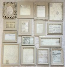 Collection Pale French Grey Photo Frames Vintage Pictures Shabby Chic