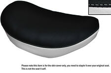 BLACK & WHITE CUSTOM FITS SUZUKI LS 650 SAVAGE FRONT LEATHER SEAT COVER
