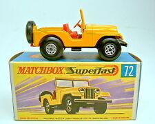 """Matchbox SF Nr.72A Standart Jeep gelb top in """"H"""" Box"""