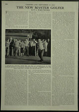 Golf Sunningdale Jimmy Hitchcock Dunlop Masters 1960 1 Page Photo Article
