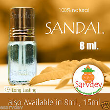 8ml Sandalwood 100% Pure Itra Chandan attar For Long Lasting Fragrance Roll on
