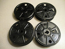16mm Set Of 4 /1920's Antique Reels  / All Metal Hold 50ft   Set 1