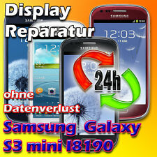 Display Reparatur Samsung Galaxy S3 Mini Touch Glas Reparatur Blau Vollverkleb