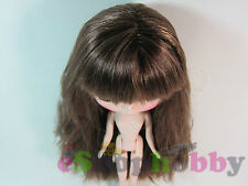 Factory Neo Blythe Doll Scalp & Dome Bangs light Brown straight hair #H008